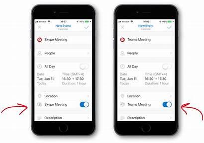 Teams Skype Meeting Outlook Mobile Meetings App