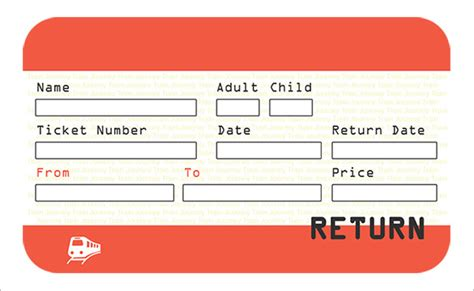 Ticket Template  81+ Free Word, Excel, Pdf, Psd, Eps