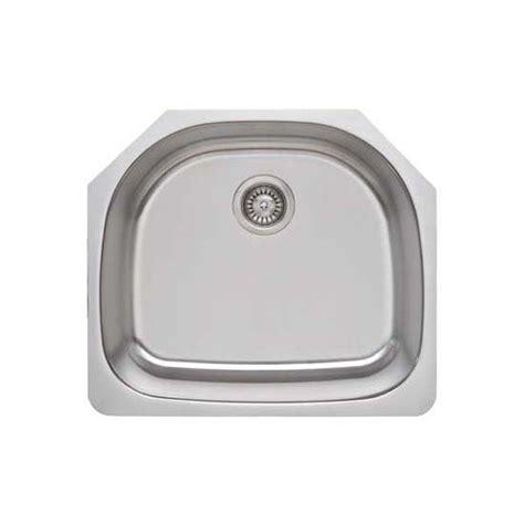 wells sinkware package 16 gauge d shape single bowl