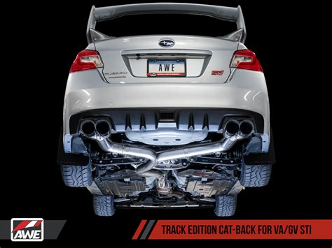 awe track edition exhaust black  chrome tips mm