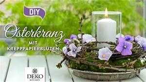 Deko Kitchen : diy osterkranz mit kleinen stiefm tterchen aus krepppapier how to deko kitchen youtube ~ A.2002-acura-tl-radio.info Haus und Dekorationen
