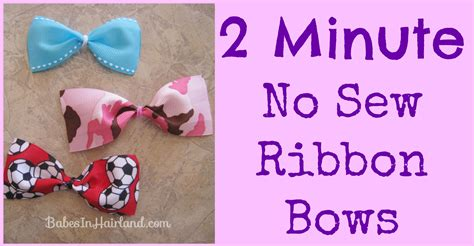 minute  sew ribbon bows babes  hairland