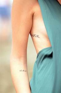 Script small Tattoos ribs and arm tattoos Pinterest