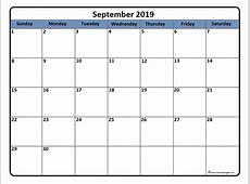 September 2019 calendar 56+ calendar templates of 2019