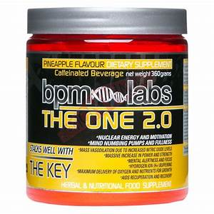 The One 2 0 Pre Workout By Bpm Labs