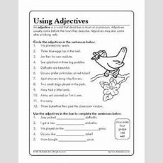 Using Adjectives Worksheet For 3rd  5th Grade  Lesson Planet