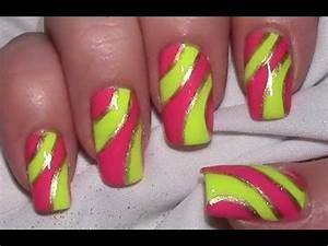 Neon Buchstaben Selber Machen : pink yellow neon nail art design tutorial with nail ~ Michelbontemps.com Haus und Dekorationen