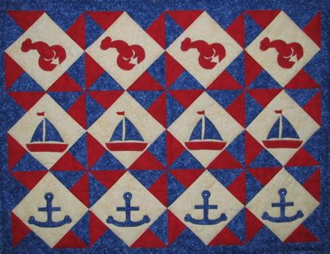 Nautical Table Runner Pdf Pattern Download Qcp-304