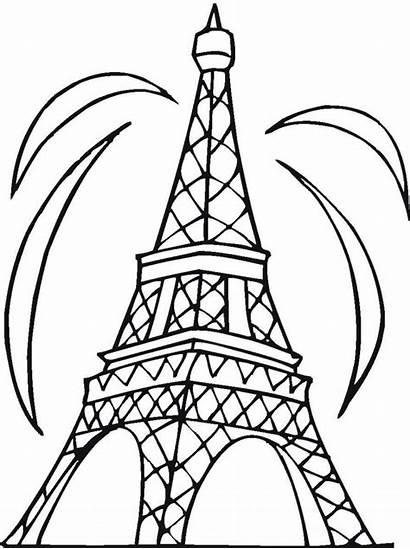 Coloring Tower Eiffel Printable