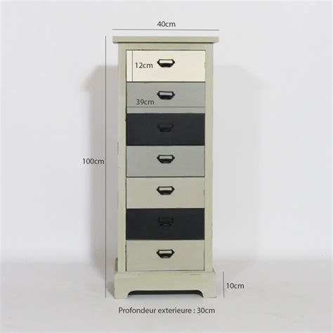banc pour ilot de cuisine colonne mdf de rangement 7 tiroirs 1m de haut made in