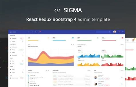 react template themeforest sigma react redux bootstrap 4 admin template admin templates nulled rip