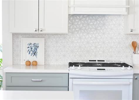 white tile backsplash white iridescent hexagon tile kitchen backsplash