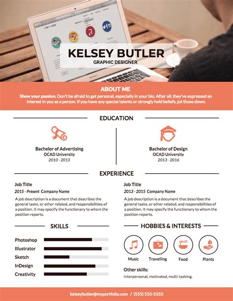 Graphic Resume by Infographic Resume Template Venngage