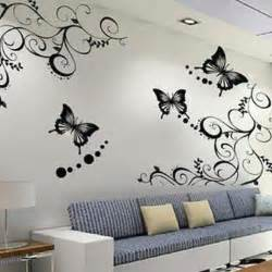 wall stickers flowers butterflies home designs wallpapers