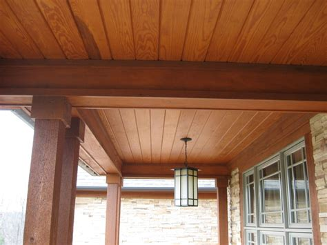 wood porch ceiling