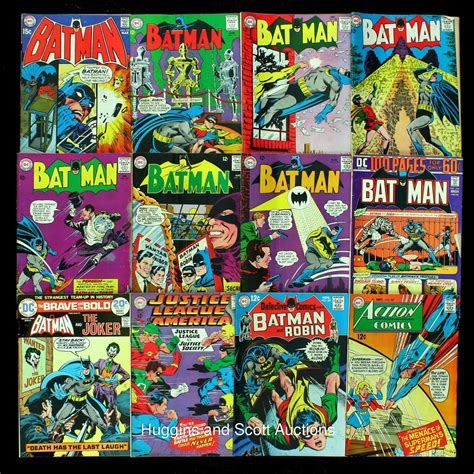 (33) Vintage Batman Comic Books With (21) 12-cent Issues
