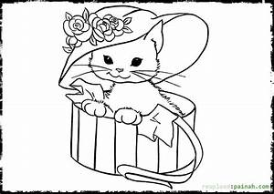 Kitten Coloring Pages Page Image Clipart Images Grig3org