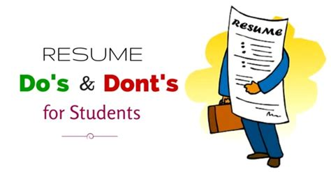 important resume dos and don ts tips for students wisestep