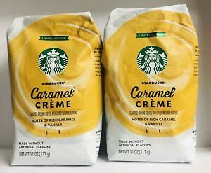 Crafted to shine from the start, starbucks caramel crème flavored coffee is delightfully smooth and creamy with layers of rich caramel and creamy vanilla flavors. 2 X Starbucks Limited Edition Caramel Creme Ground Coffee ...