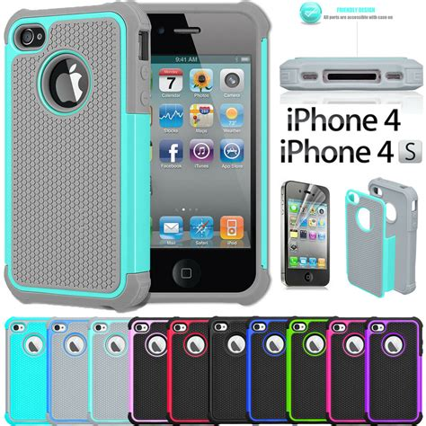 Rubber Iphone 4 Iphone 4s shock proof rubber matte cover for apple iphone
