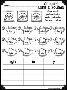 igh and ie and y long i phonics activities by the