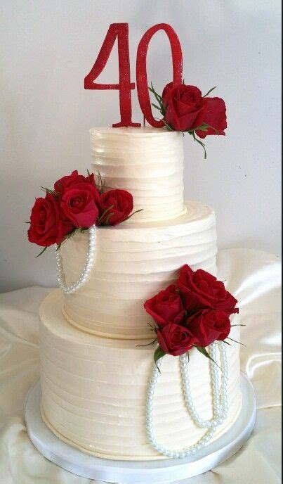 40th Anniversary Decorations - best 25 40th anniversary cakes ideas on diy