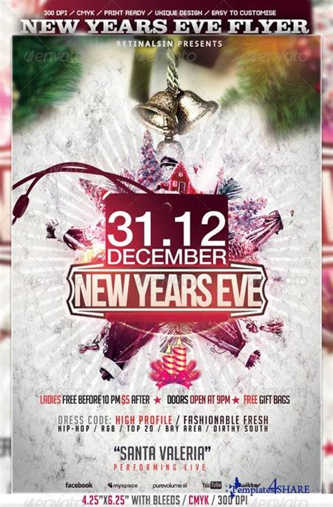 free new years flyer template graphicriver new years flyer template 3581682 187 templates4share free web templates