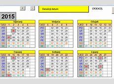 KALENDAR 2015 s državnim praznicima i neradnim danima u Excelu