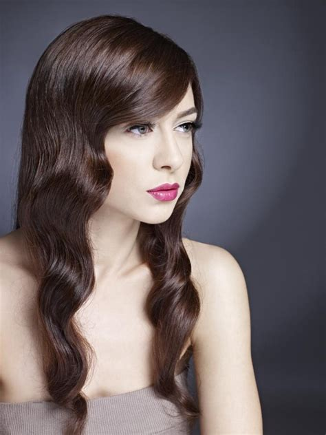 long hairstyle  smooth waves   satin sheen