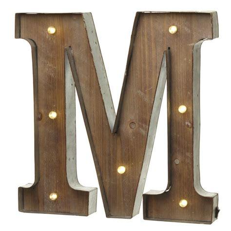 wall mounted vintage light up metal letter a illumination led light up wood metal carnival letter m 44480
