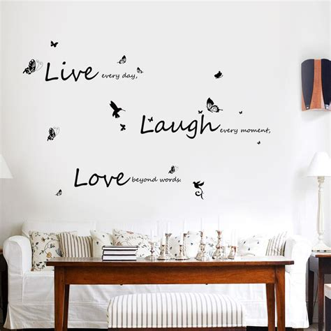 vivid  laugh love wall stickers art mural quote