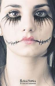 Halloween Make Up Puppe : 18 scary halloween mouth teeth half face makeup looks ideas 2016 modern fashion blog ~ Frokenaadalensverden.com Haus und Dekorationen