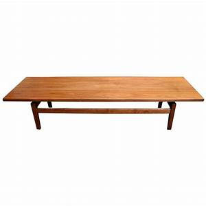 mid century modern solid walnut low coffee table or long With mid century low coffee table