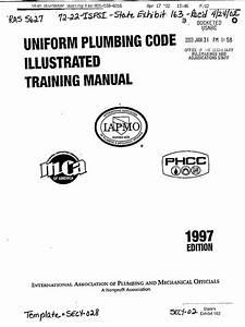 Uniform Plumbing Code Training Manual