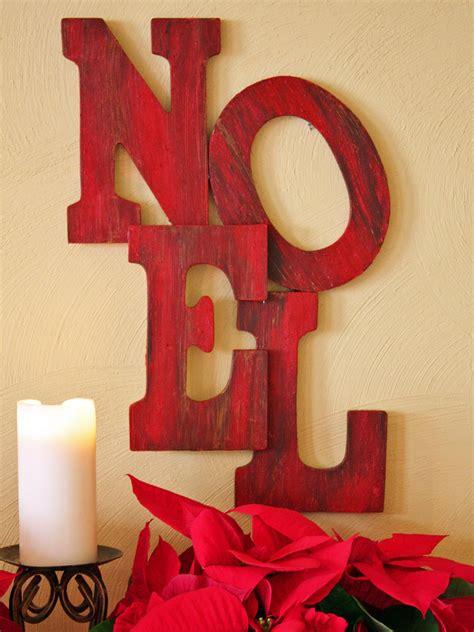 decorative christmas letters wooden letter sign hgtv