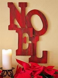 wooden letter holiday sign hgtv With wooden noel letters