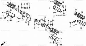Honda Motorcycle 1996 Oem Parts Diagram For Step