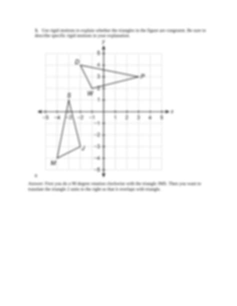 How do you start a proof? Unit Test, Part 2 Congruence and Constructions.docx - Name ...