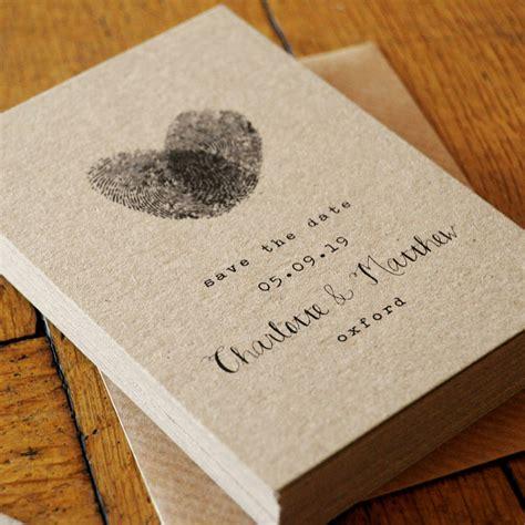 fingerprint  calligraphy wedding invitation suite