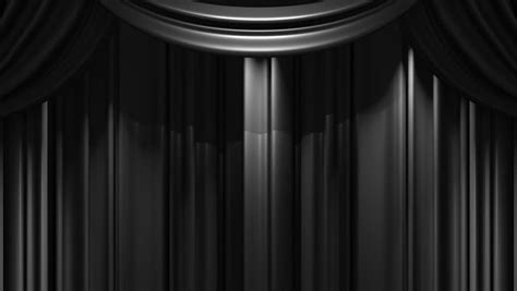 black stage curtain on black background loop able 3d