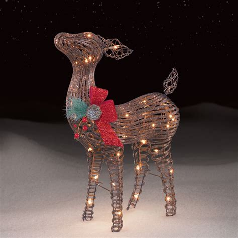 roebuck  grapevine baby fawn outdoor christmas decor