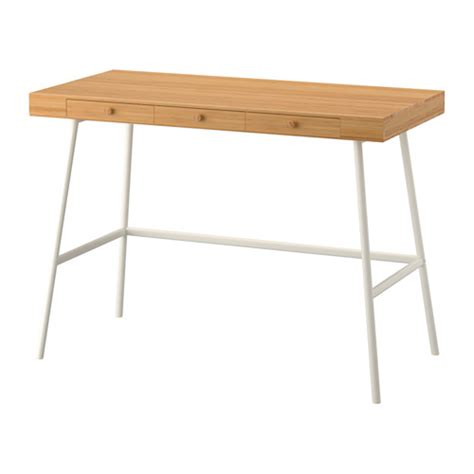 a neat and space saving desk in natural bamboo ikea