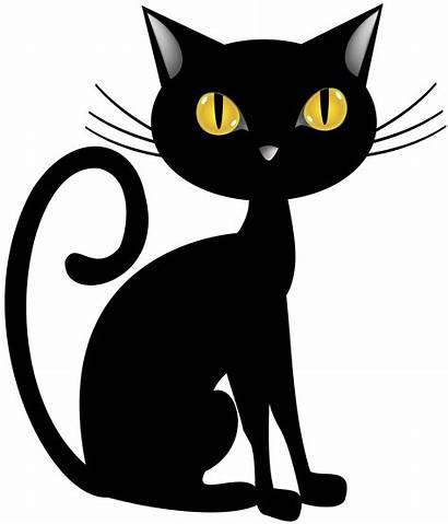 Halloween Cat Clip Clipart Transparent Yopriceville Line