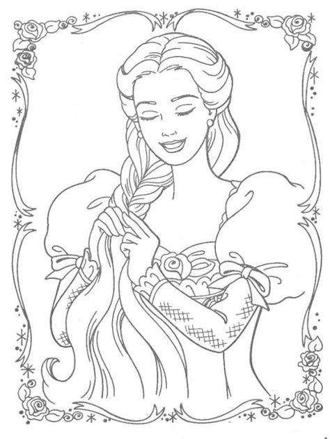 Kleurplaat Rapunzel Paard by 15 Kleurplaat Prinses Krijg Duizenden Kleurenfoto