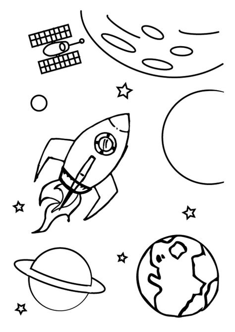 spaceship   galaxy coloring page netart