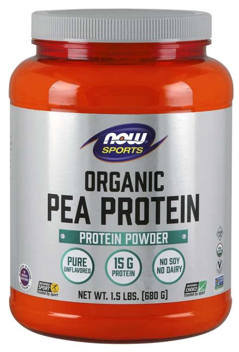 Pea Protein | Organic Pea Protein Powder | NOW Foods