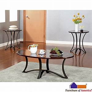 Metro shop furniture of america beverly flare 3 piece for 3 piece coffee table set black