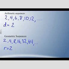 Math B30  62  Arithmetic Vs Geometric Sequences Youtube