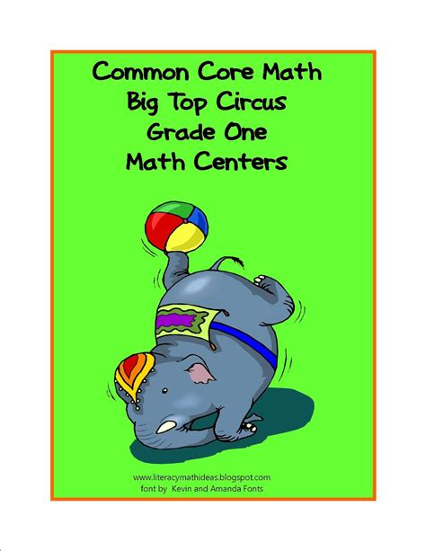 Simply Centers Common Core Standards Math Big Top Circus Games Grade 1