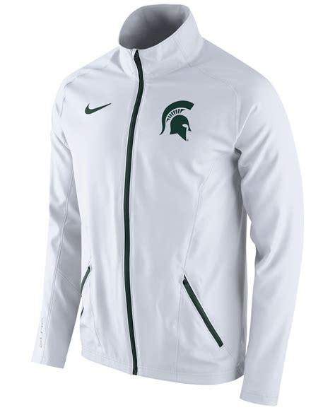 nike mens michigan state spartans game jacket  white